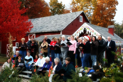 Starke County Community Choir performs at Hensler's