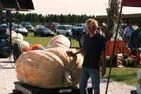 1st place Winner, Terry Marchand, 1346 lb. pumpkin