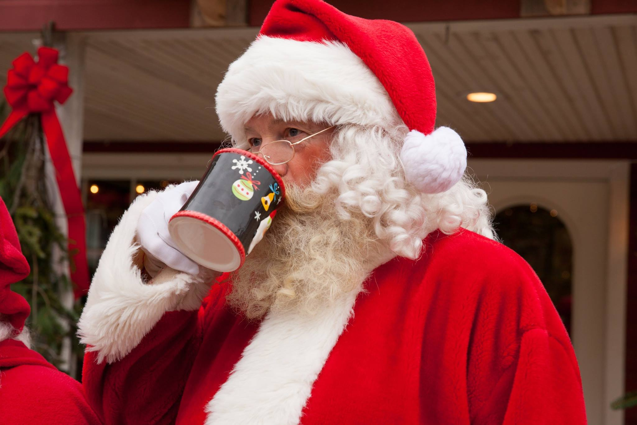 Santa Claus at the Eats Barn