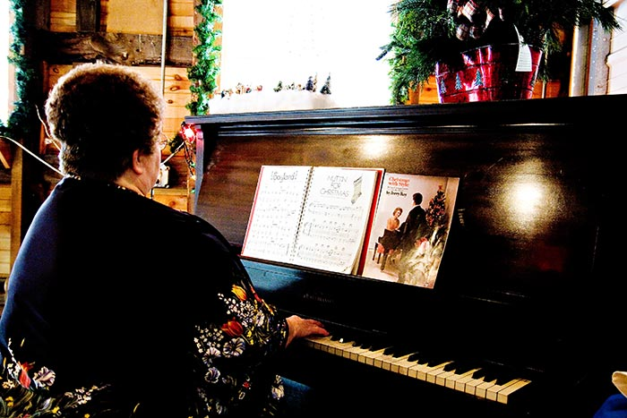 Piano Player in the Eats Barn