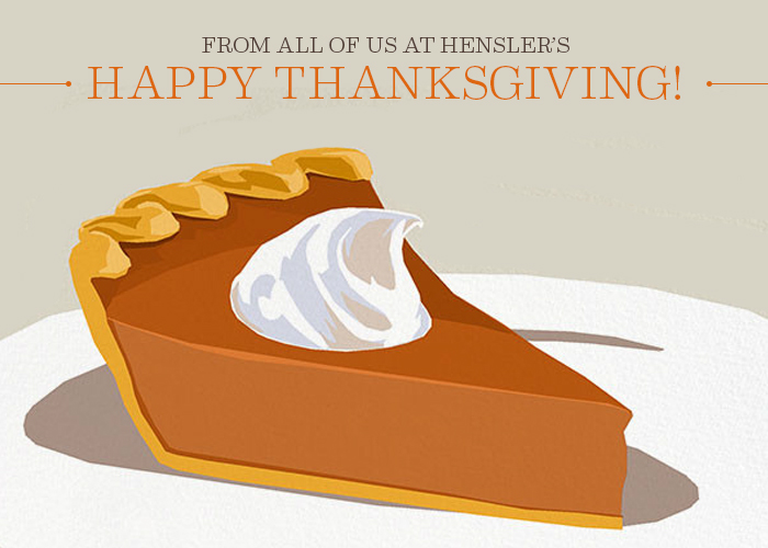 Happy Thanksgiving 2014 from Hensler Nursery