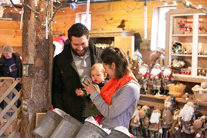 Shopping at Hensler's Christmas Barn