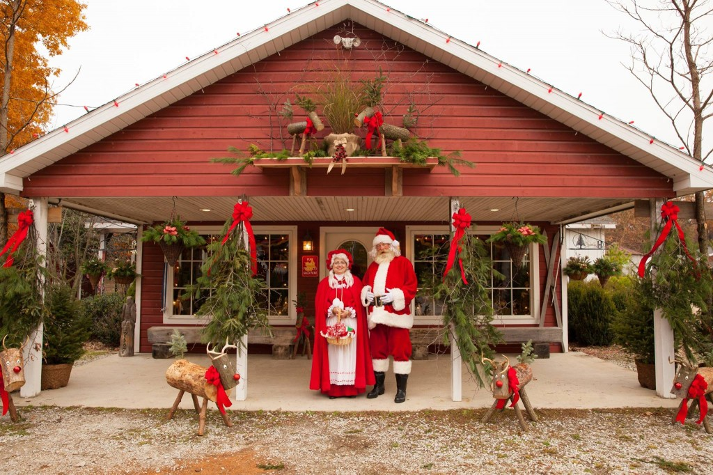 Santa and Mrs. Claus at Hensler Nursery