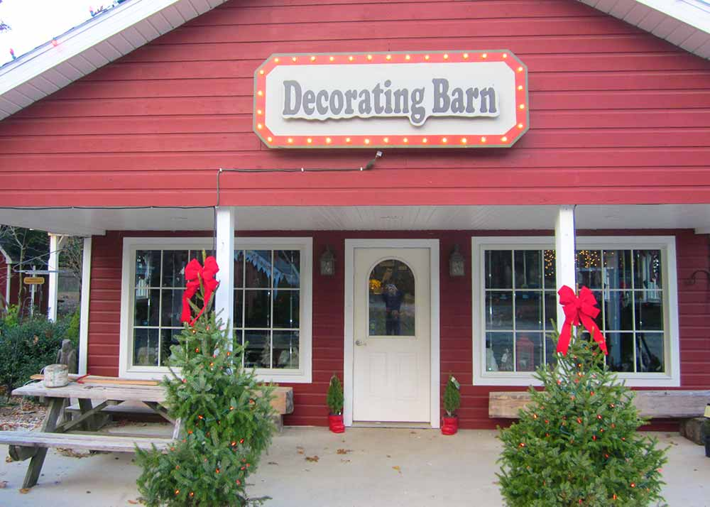 Christmas Decorating Barn